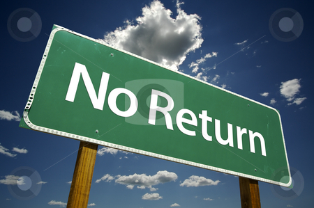 no return road sign stock photo