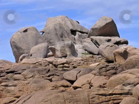 Granite Rocks near Ploumanach, Brittany, Northern France stock photo, Granite Rocks near Ploumanach, Brittany, Northern France by Lothar Hinz