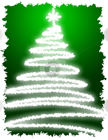 Artistic Christmas Tree stock photo, Artistic Christmas Tree with Green Background Gradation by Andy Dean
