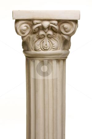 Ancient Column Pillar Replica stock photo, Ancient Column Pillar Replica on a White Gradation Background. by Andy Dean