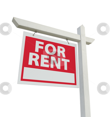 For Rent Real Estate Sign stock photo, For Rent Real Estate Sign Isolated on a White Background. by Andy Dean