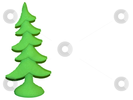 Green  Christmas  Tree isolated on white stock photo, Purple christmas tree isolated on white lots of ad space by CHERYL LAFOND