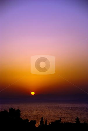 Copy space sunset stock photo, Beautiful sunset with big copy space by Milsi Art