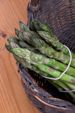 New harvest stock photo, Bundle of freshly harvested asparagus crowns by Paul Phillips