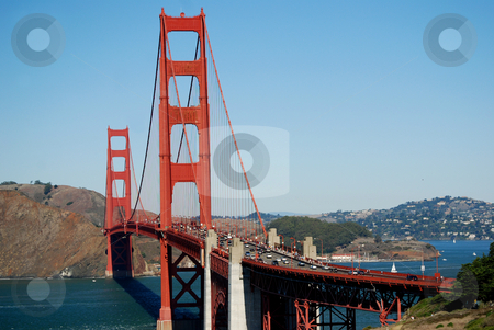 Gateway to the City stock photo, Golden Gate bridge in San Francisco, California. by Steven Kapinos