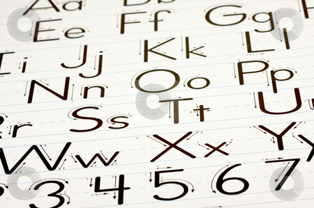 Learning Letters Chart stock photo, Back to School Learning Letters Chart by Andy Dean