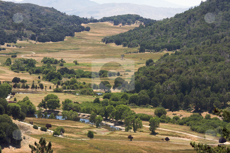 The Valley View stock photo, The Valley View in California on a summer day. by Andy Dean
