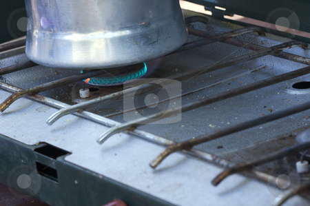 Camping Coffee on the Stove stock photo, Morning Camping Coffee on the Stove. by Andy Dean