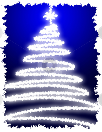 Artistic Christmas Tree stock photo, Artistic Christmas Tree with Blue Background Gradation by Andy Dean