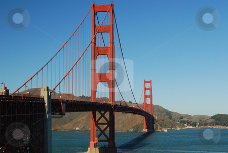 Golden Gate stock photo, Golden Gate bridge, east side view, looking north towards Marin County. by Steven Kapinos