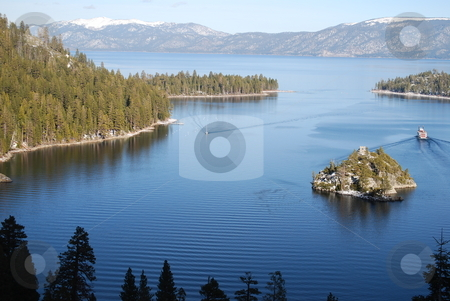Emerald Bay stock photo, Emerald Bay and Fannette Island in Lake Tahoe, California. by Steven Kapinos