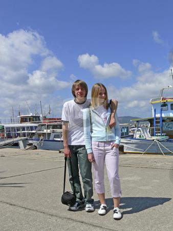Teenagers in Alghero, Sardinia, Italy stock photo, Teenagers in Alghero, Sardinia, Italy by Lothar Hinz