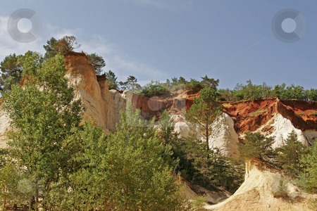 Ocher rocks (French Colorado) near Rustrel, Luberon, Provence, Southern France stock photo, Ocher rocks (French Colorado) near Rustrel, Luberon, Provence, Southern France by Lothar Hinz