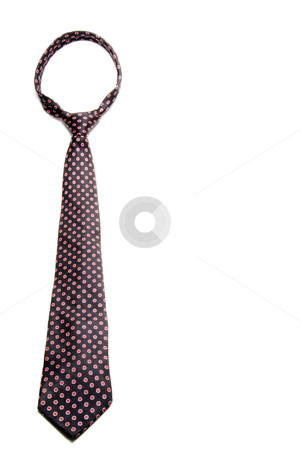Necktie stock photo, A fashionable mens dress necktie for any occasion. by Robert Byron
