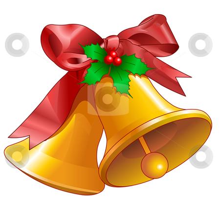Christmas bells stock vector clipart, Christmas bells isolated on white. Vector illustration by Anna Vtlichkovsky