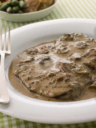 Steak Diane stock photo,  by Monkey Business Images