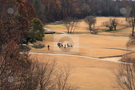 Winterl Golfing  stock photo, People enjoying the game of golf in winter months by Jack Schiffer