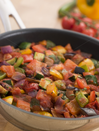 Ratatouille in a Saute Pan stock photo,  by Monkey Business Images