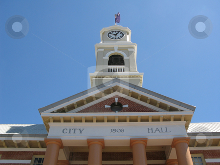 Maryborough town hall stock photo, Town hall and clock tower, maryborough landmark by Stephen Gibson