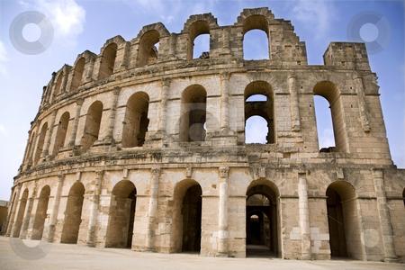 Tunis stock photo, Coliseum in El Jem. Tunis. by Valery Kraynov
