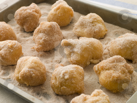 Lemon and Cinnamon Souffle Fritters stock photo,  by Monkey Business Images