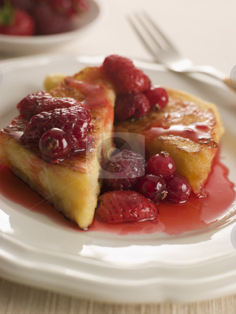 Pain Perdu with Berry Syrup stock photo,  by Monkey Business Images