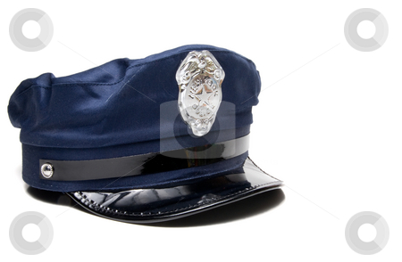 Police Hat stock photo, A New York City police officer's hat. by Robert Byron