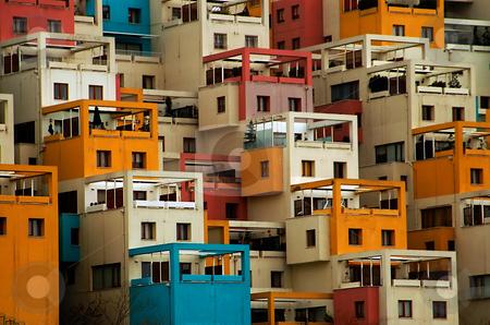 Balconies stock photo, Apartments building in Ankara turkey by Kobby Dagan