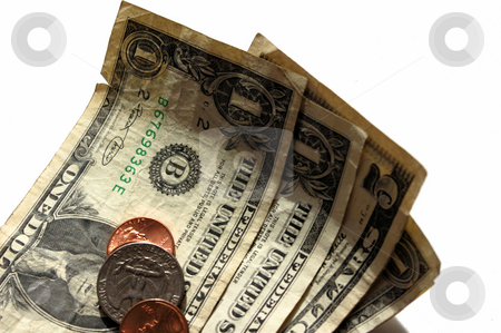 A few dollars stock photo, a few dollars and some change ready to spend by Tim Markley