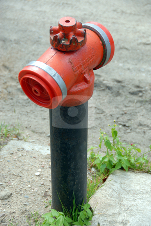 Fire hydrant stock photo, Fire hydrant stands out on the street by Joanna Szycik