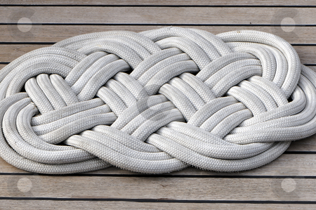 Boat mat stock photo, Close-up of a rope mat on a boat by Massimiliano Leban