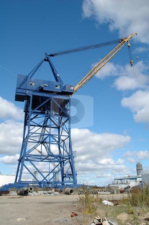 Shipyard Crane stock photo,  by Richard Sheehan