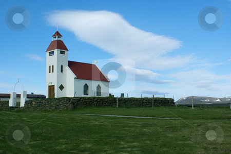 Modrudalur Church stock photo, Church in Modrudalur, Iceland by Daniel Rosner
