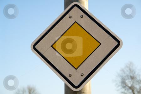 Verkehrschild Vorfahrtstra?e stock photo, StVO Zeichen Nr. 306 by Wolfgang Heidasch