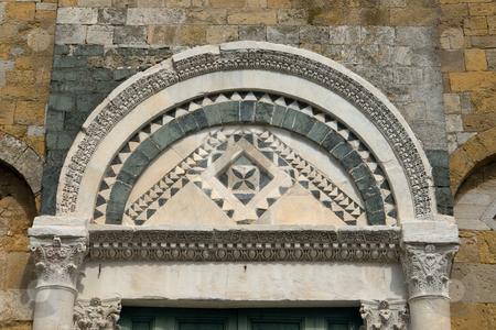 Fassadendetail am Dom zu Volterra, Toskana stock photo, Fassadendetail am Dom zu Volterra, Toskana by Wolfgang Heidasch
