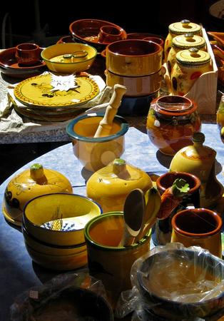 Wochenmarkt in Anduze Suedfrankreich stock photo,  by Wolfgang Heidasch