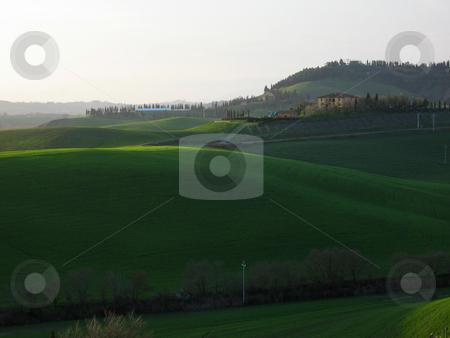 Landschaft in der Toskana stock photo,  by Wolfgang Heidasch