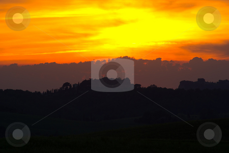 Abendstimmung - Evening Mood stock photo, In der Toscana - In Tuscany, Italy by Wolfgang Heidasch