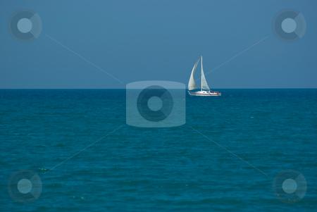 Segelboot auf dem Meer - Sailor on the sea stock photo, Segelboot auf dem Meer - Sailor on the sea by Wolfgang Heidasch