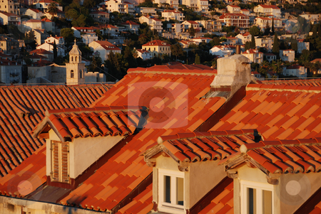 Roof tops in Dubrovnik Old Town stock photo, Terracotta Roof tops in Old Town of Dubrovnik, Croatia by Jodi Baglien Sparkes