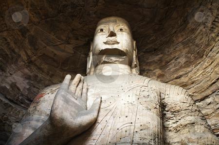 Buddha statue in Yungang Caves, China stock photo, Buddha statue in Yungang Caves (China) by Michele Baldi
