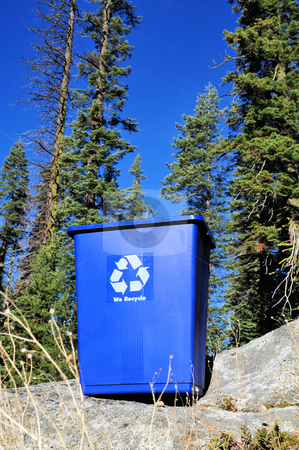 Recycle Bin And Clean Environment stock photo, A recycle can and the concept of a clean environment by Lynn Bendickson