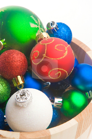 Christmas Time stock photo, A series of colorful  Christmas ornaments decoration by Jose Wilson Araujo