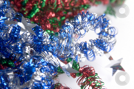Christmas Time stock photo, Christmas colorful decorative laces on white background by Jose Wilson Araujo