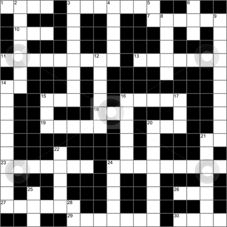 A blank symmetrical crossword puzzle. stock photo, A blank symmetrical crossword puzzle. by Stephen Rees
