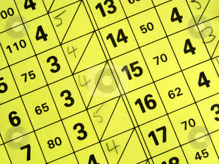 Close up of a short golf course score card. stock photo, Close up of a short golf course score card. by Stephen Rees