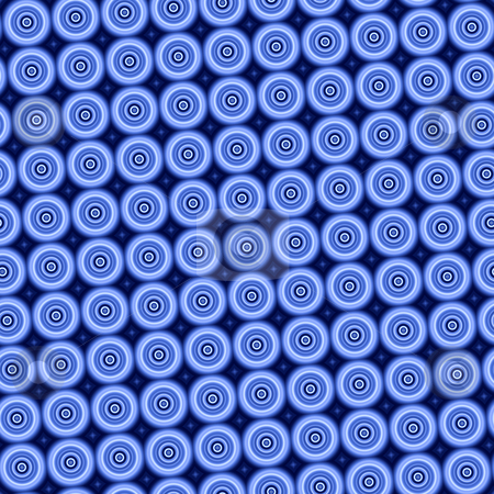 Blue circles pattern background tiles seamlessly. stock photo, Blue circles pattern background tiles seamlessly. by Stephen Rees