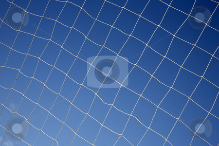 Close up of a soccer net. stock photo, Close up of a soccer net. by Stephen Rees
