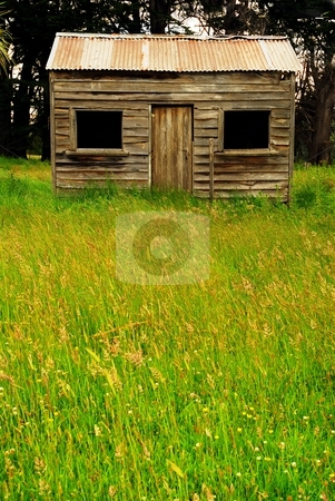 Farmhouse stock photo, Isolated farm house in remote countryside in New Zealand by Greg Ward