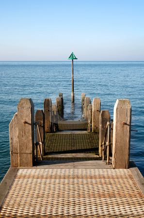 A jetty in Aberystwyth at low tide. stock photo, A jetty in Aberystwyth at low tide. by Stephen Rees